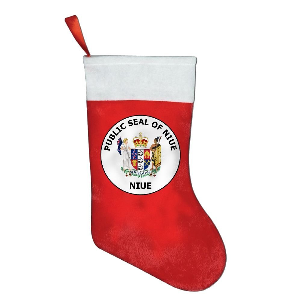 QP8BD Public Seal Of Niue Christmas Stockings Christmas Tree Christmas Gifts Santa Stockings Christmas Holiday Decorations