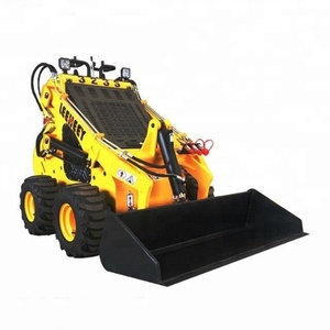 China Construction Machinery 23HP 4 Wheels Mini Skid Steer Loader with combination bucket