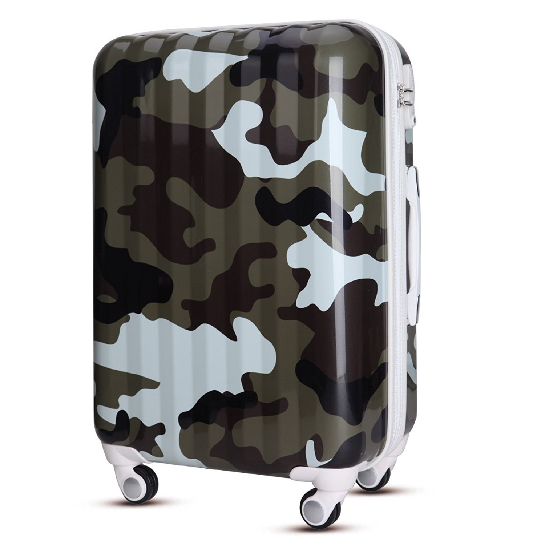 28 inch WAOWAO multicolor hardside luggage