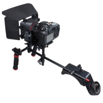 SUNRISE OEM Custom DSLR Rigs Shoulder Mount Rig Gearless Follow Focus Matte Box Camera Shoulder Stabilizer