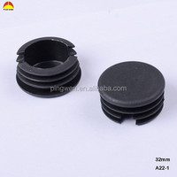 Customized threaded rubber stopper plastic tube plug