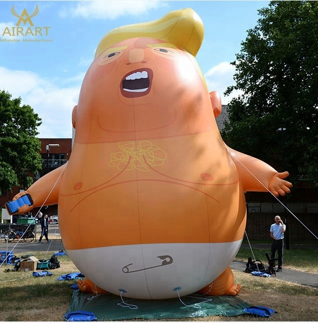 2018 new style custom size <strong>inflatable</strong> Trump baby balloon for parade,events and party supplies,store promotion advertising
