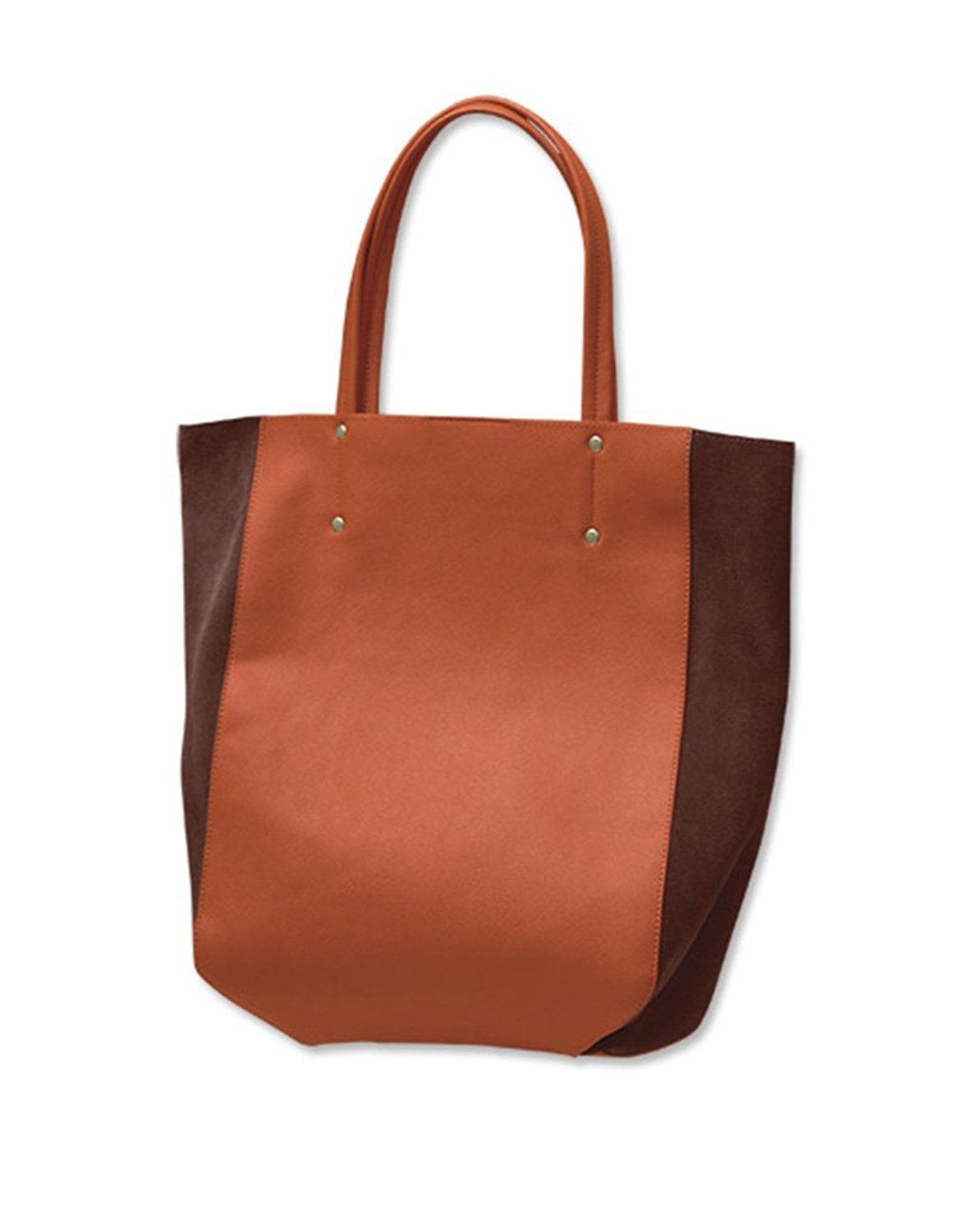 975707e3339d Get Quotations · Orvis Vegan-leather Suede Colorblocked Tote   Vegan-leather    Suede Colorblocked Tote