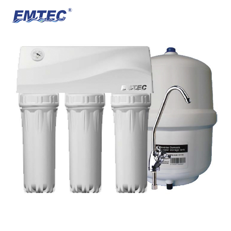 EMTEC 200G 5 Stage Undersink Ultra Low Pressure Ro Water Filter Without Electricity
