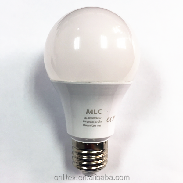 2016 hot promotion 7w led bulb lights e26 / <strong>e27</strong> for indoor lighting