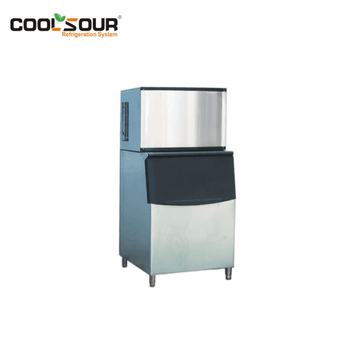 COOLSOUR Ice Machine For Coffee Shop And Restaurant /Cube Ice Machine /Stainless Steel Cold Drinks Shops Ice Making Machine