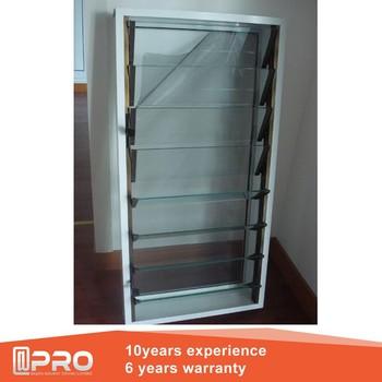 Precio del vidrio ventana persiana y marco de aluminio - Precio cristal ventana ...