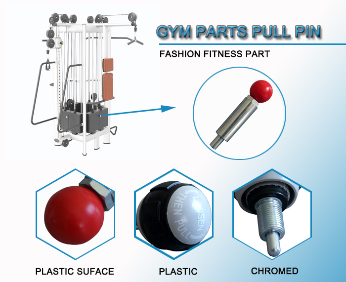 gym accessory spare parts pull pin with screw
