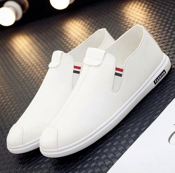 Wholesale hot selling new style men casual white slip on shoes