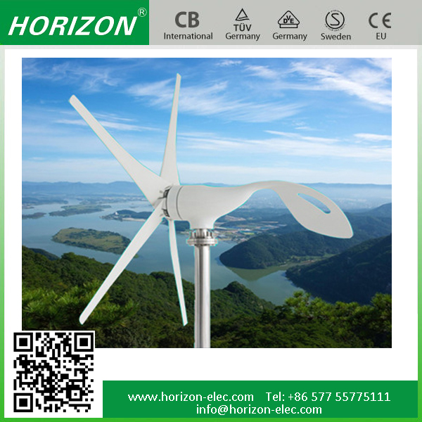 New energy 100W horizontal axis wind turbine price small 12v 24v wind generator charge controller max power 130W 12/24VDC