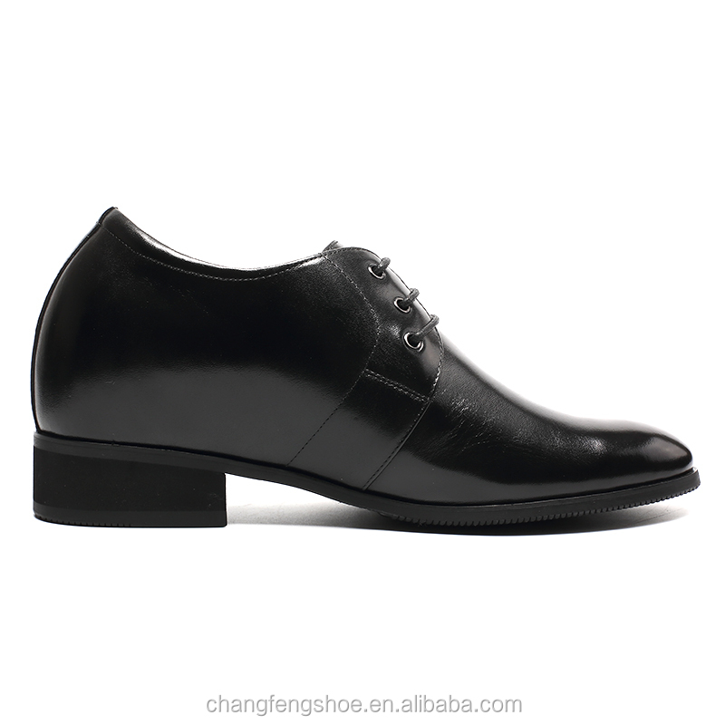 Elevator Shoes Leather Male Dress Formal Shoes Black Mens Italian xqA6gwTq