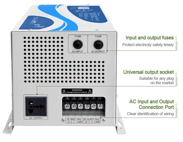 Xindun Inteliigent dc12v 24v 48v ac 120V 220V 1000W 3000W off grid Solar Inverter mit Gebaut-in AC ladegerät