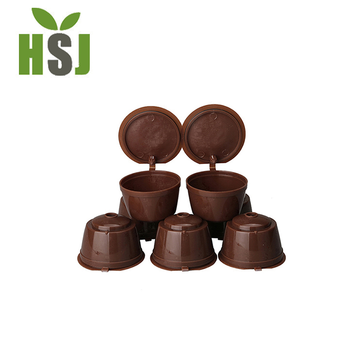 Brown color reusable dolce gusto coffee capsule