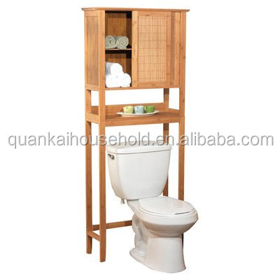 Bamboo Space Saver Toilet Cabinet