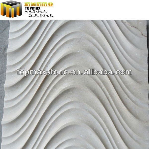 Popular fashionable wall marble carving tile