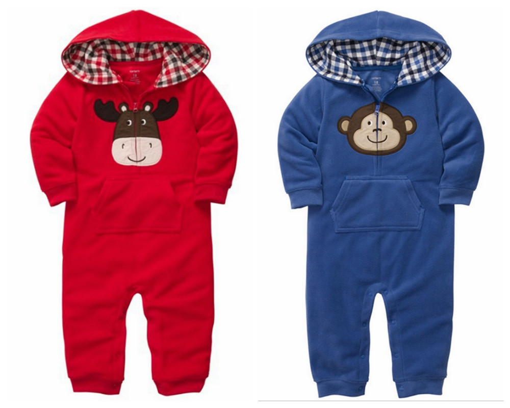385cdc28b2cb Buy Carters Baby Boys Hooded Raccoon Jumpsuit 6 Month Grey in Cheap ...