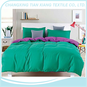 100% polyester microfiber peached brush plain dyed fabric for home textile
