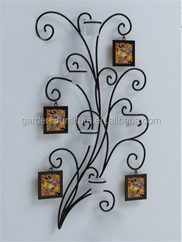 Home Decorative Wall Hanging Metal Art Wrought Iron Family Tree