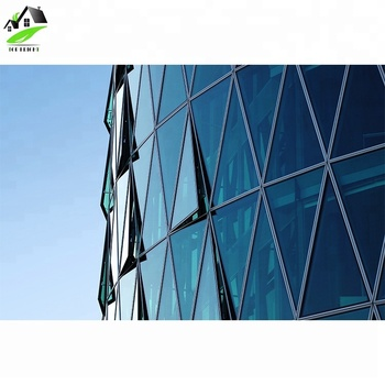 Safety Toughened Hollow Structure Glass Facade thermal break curtain wall