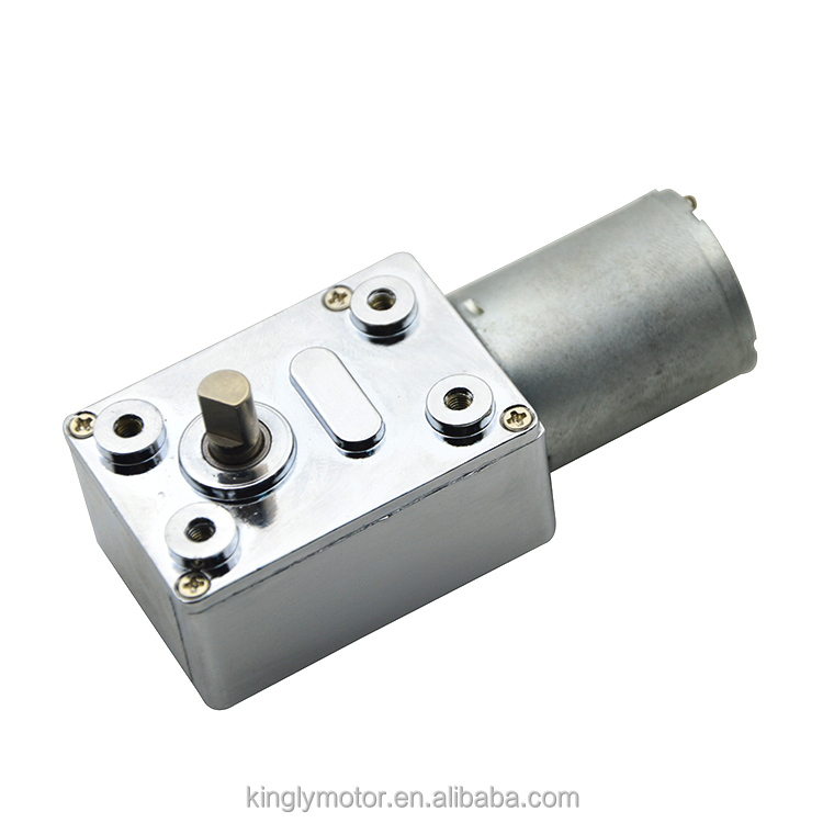 12V 20V 24V 32mm Totally Enclosed Type PM DC Worm Gear Motor with Worm GEAR