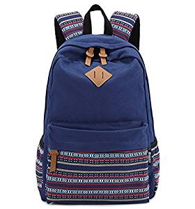 Get Quotations · Brotechno Unisex Fashionable Big Capacity Casual Style  Lightweight Canvas Laptop Backpack - Fashion Cute Travel School 2e43a27bec