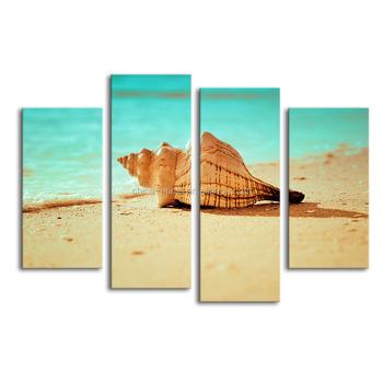 Elegant Customized Canvas Print Seashell Painting Canvas Wall Art Sea Snail Photo Art  Decor Canvas Arts Ready