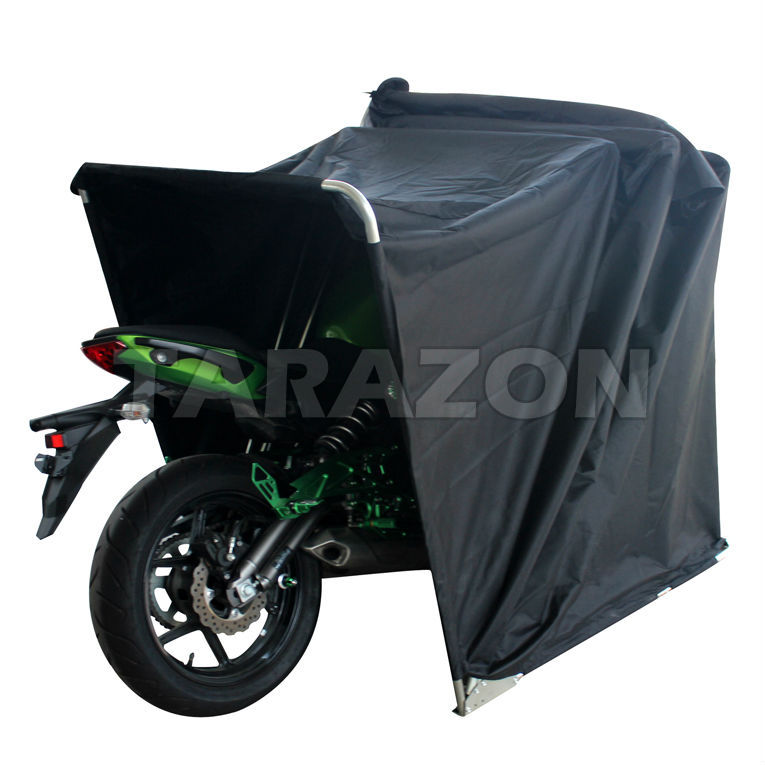 Portable Motorcycle Shelter : High performance portable folding motorcycle outdoor