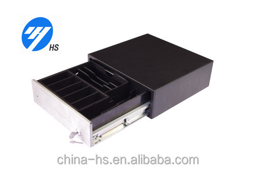 12 inch cash checking machine managing micro switch RJ11 Connectors 308Alocking cash drawer