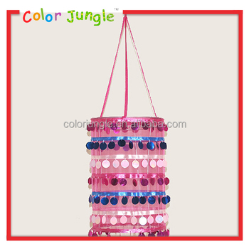 Decorative Lampshade Bling Bling shining lampshade for kids 3 colors decorative lampshade