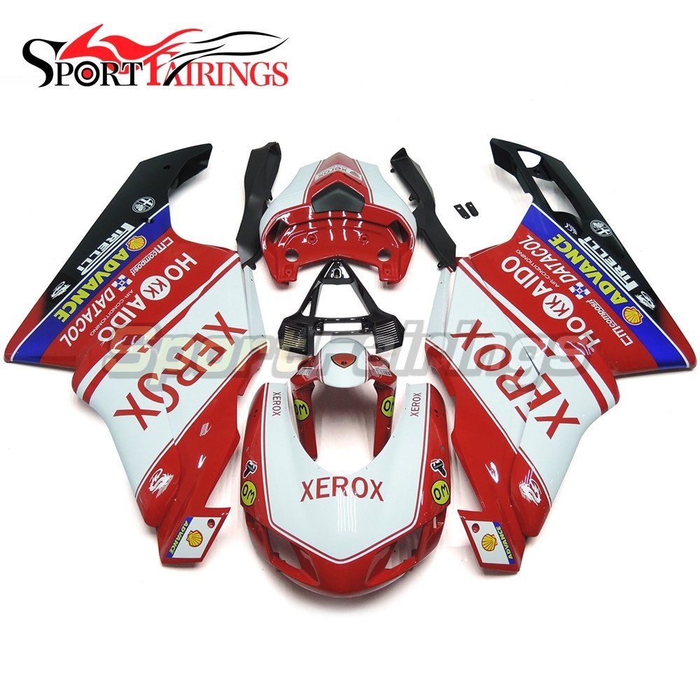 Sportfairings Motorcycle Injection ABS Plastic Fairing Kits For DUCAT 999 749 Monoposto Year 2005 2006 Fairings White Red Panels