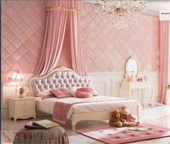 Princess Girls Room Furniture Very Nice Kids Bedroom Sets Pink Color