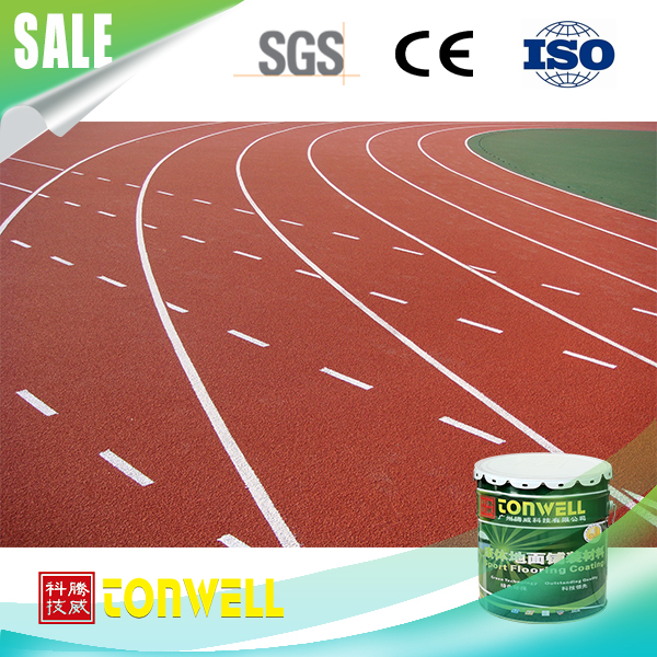 Artificial sport surface elastic rubber running track and field