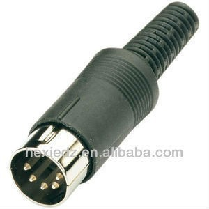 Connector - DIN 5-Pin Male Inline Plug Audio