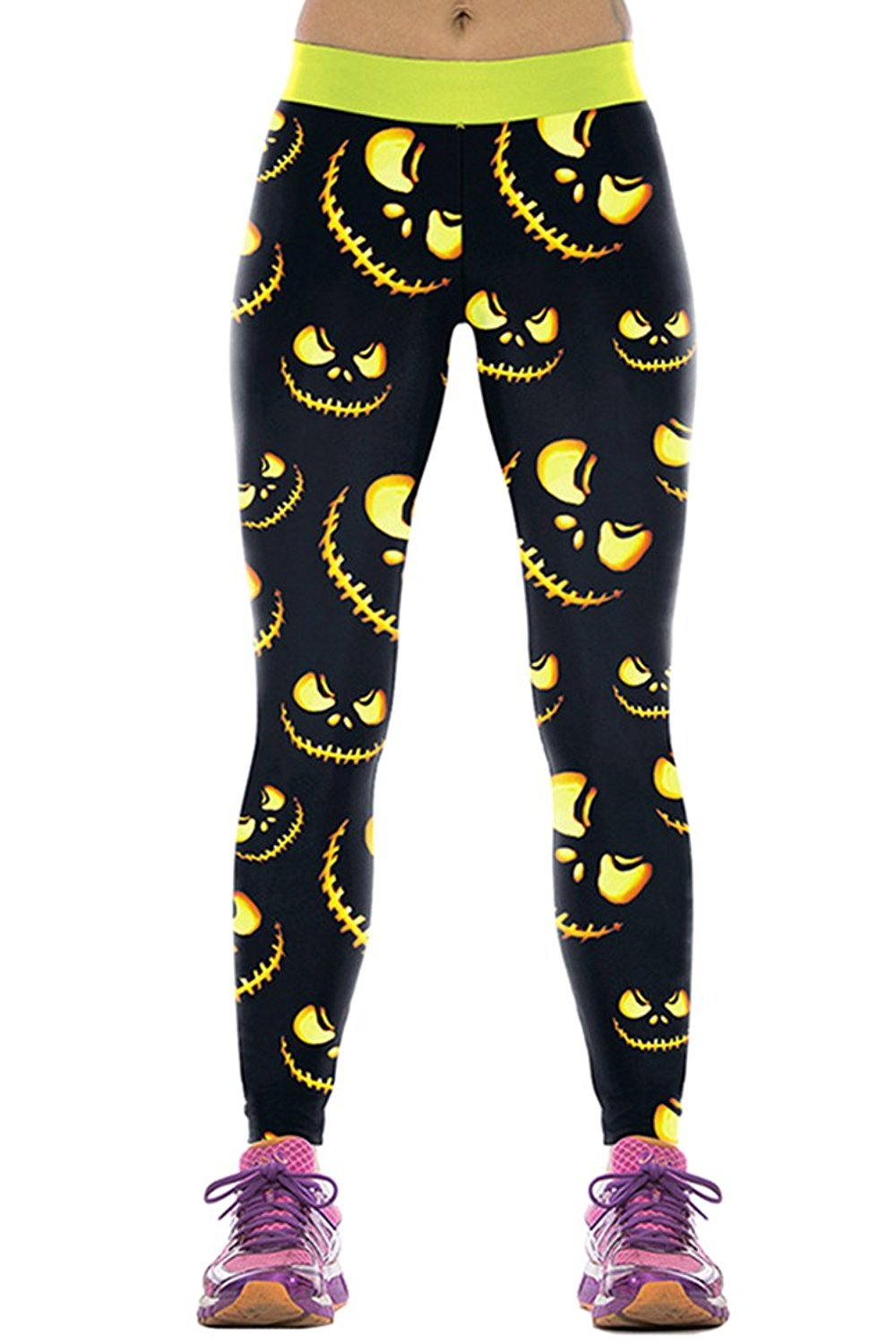 72d6cbab3be35 Get Quotations · COCOLEGGINGS Womens Funny Halloween Costumes Workout  Leggings Tights