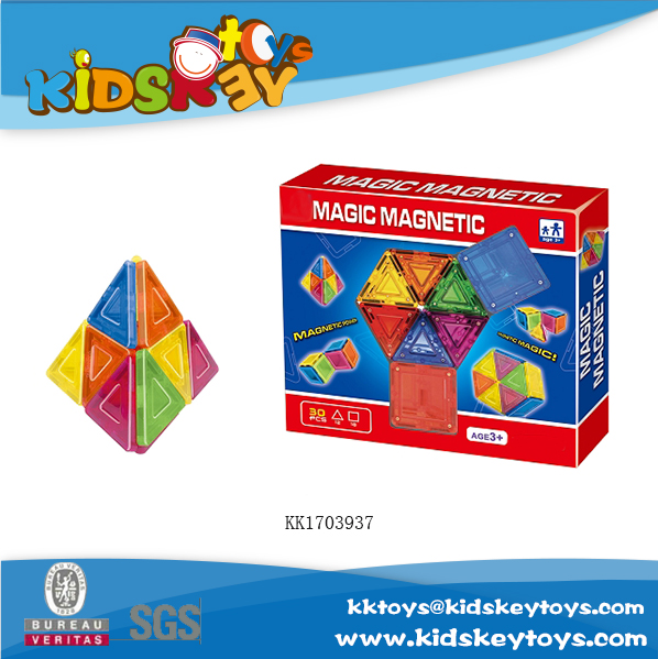 2017 magnet toy brain game 30pcs magic toy magnetic building blocks for kid