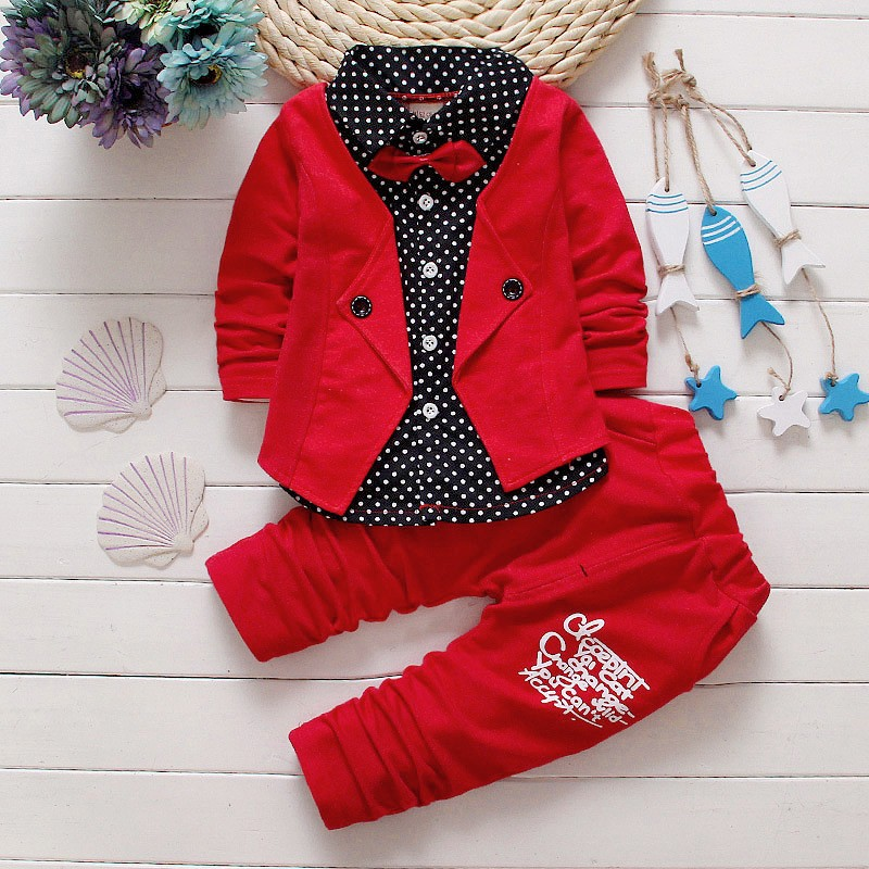 39e048962034 2017 New Gentleman Baby Boys Clothing Set Children Spring Autumn ...