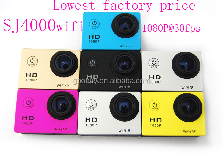 2016 shenzhen lowest cost factory pricing IP68 action camera sj4000 wifi
