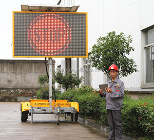 Outdoor Programmable Led Moving Message display Sign With Solar Power Supply