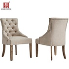 Dingzhi 2019 Wholesale French Modern Design Wooden Luxury Dining Room Upholstered Fabric Velvet Dining Chair With Sponge Seat