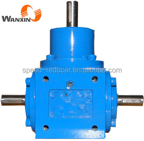 T series 90 degree 3/4 (5/8) inch shaft gearbox ratio 1:1 customized gearbox