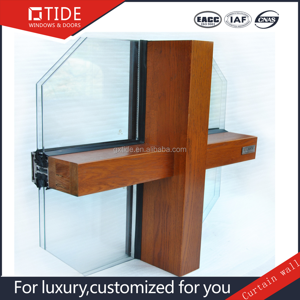 Top Building Materials Aluminum And Wood Frame Profile For