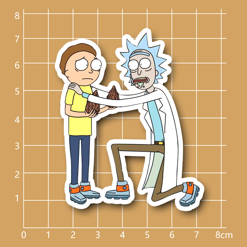 Rick and Morty Pilot Seeds waterproof PVC sticker for Fixed Gear Car Suitcase Notebook Refrigerator Skateboard