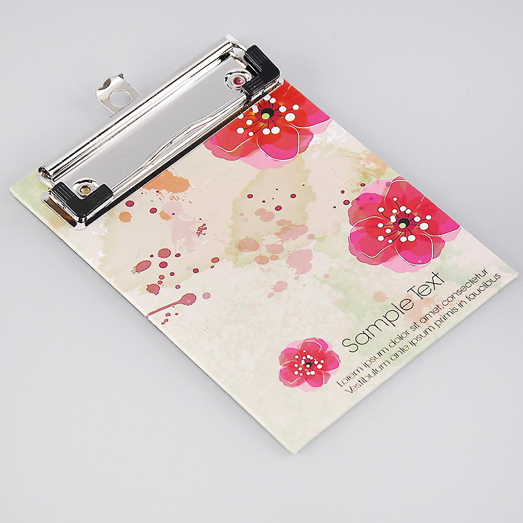 Wholesale floral printing book binder art chrome paper clipboard