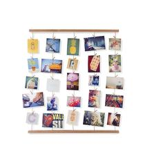 Natural Wood Wall Mounts Hanging Clips Photo frame for Hanging Photos