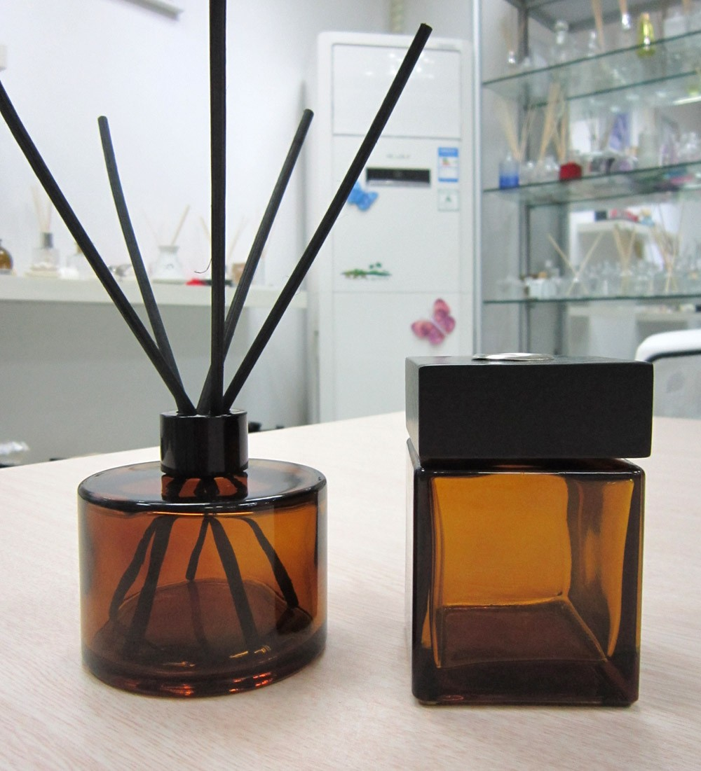 200ml Amber Aroma Reed Diffuser Glass Bottle With Fiber