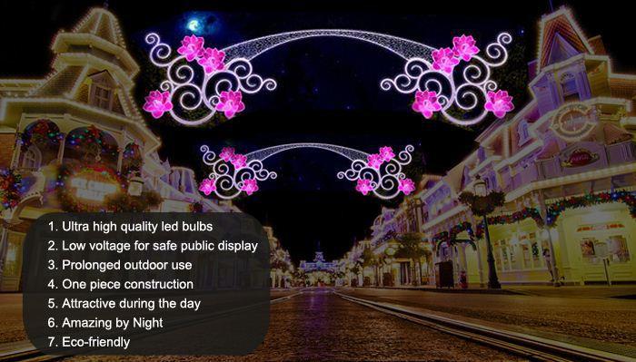 Festival Decorative Motif Street Lights For Ramadan Decoration