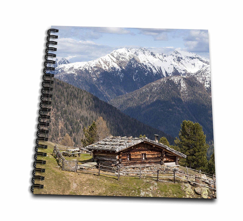 Danita Delimont - Cabins - Cabin, Ulten valley, Alpe Pilsbergalm, Tyrol, Italy - EU16 MZW0180 - Martin Zwick - Drawing Book 8 x 8 inch (db_137857_1)