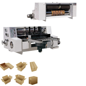 Corrugated Carton Box Making Machines and Carton paper making machinery set with printing slotting and diecutting feature price