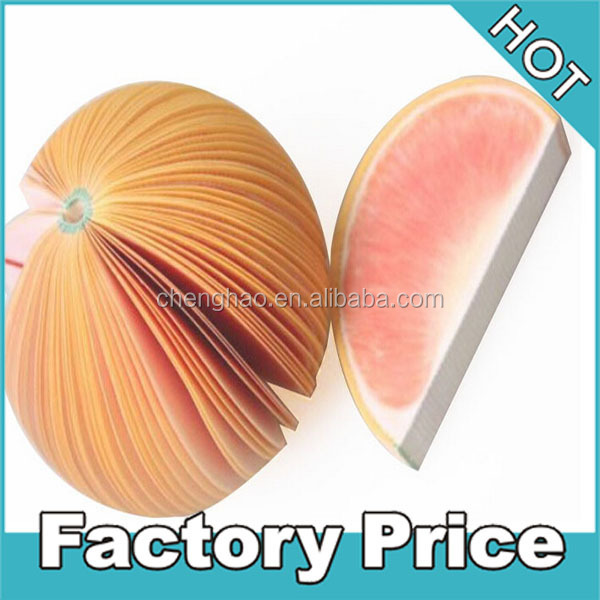 custom 3d fruit shaped memo pad for kids promotional gifts