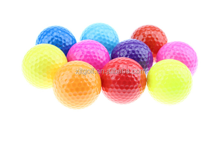Cheap custom colored logo practice golf ball
